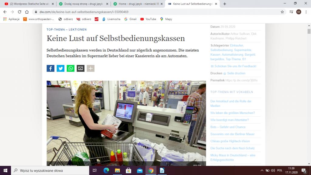 Zakupy w Niemczech - kasy samoobsługowe